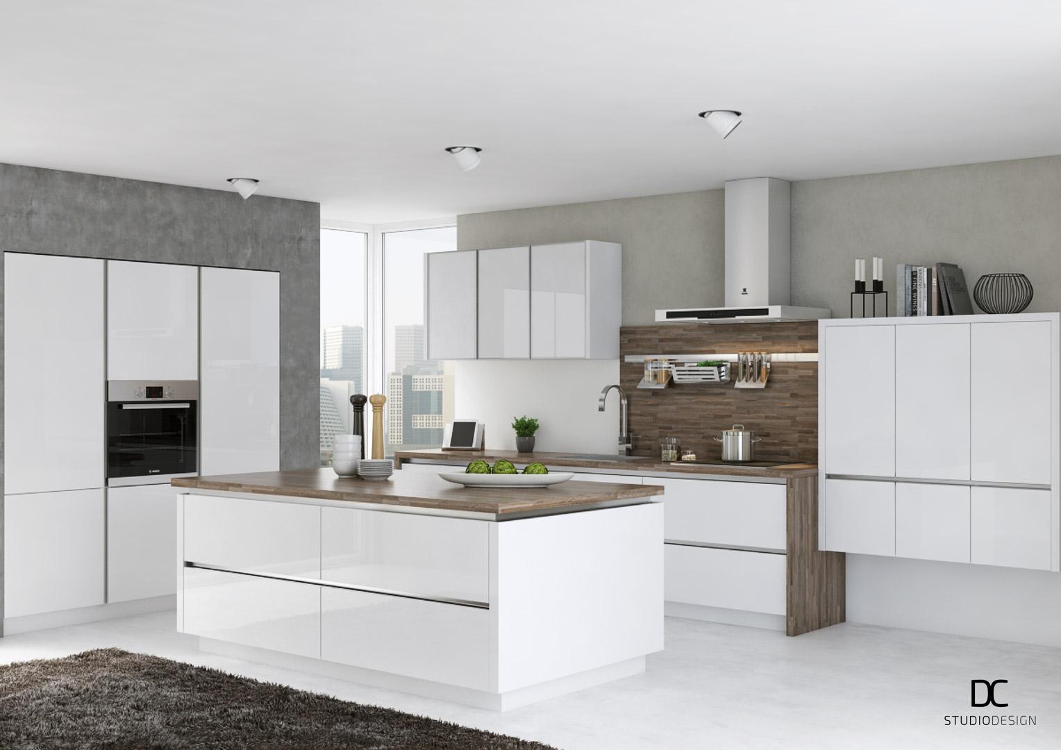 Kitchen handle visualization dc studio design for Kitchen design visualiser